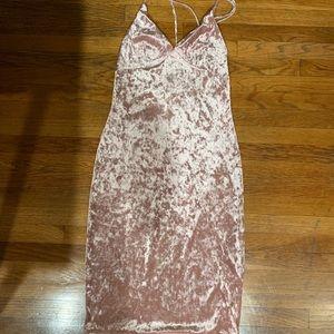 Dresses & Skirts - Pink Velvet Dress